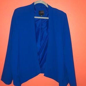 Bright Blue Asymmetrical Suit Jacket/Blazer